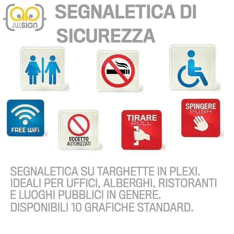 SEGNALETICA DI SICUREZZA, PLEXIGLASS, BAGNO, BAGNI, TARGHE ...